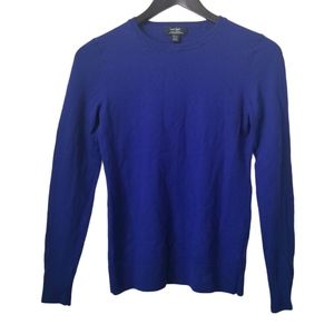 Lord and taylor women's blue merino wool sweater